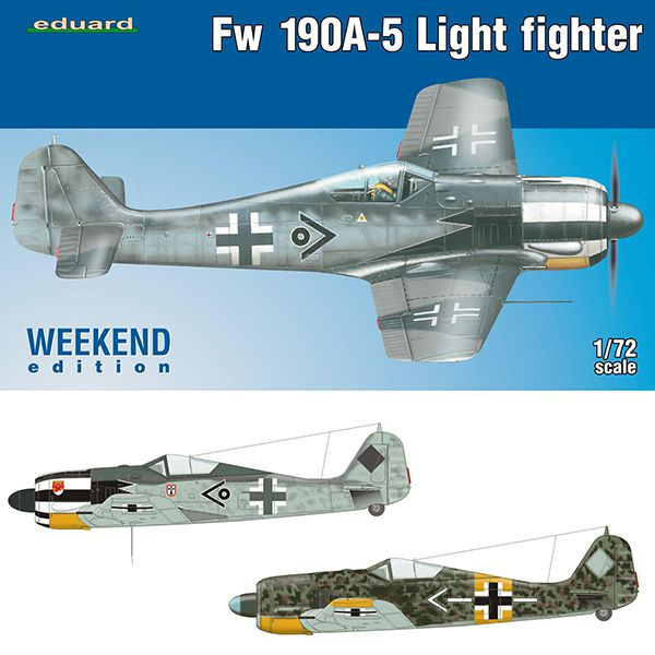 eduard 7439 Focke Wulf Fw 190A-5 Light Fighter 2 cannons Weekend Edition 1/72