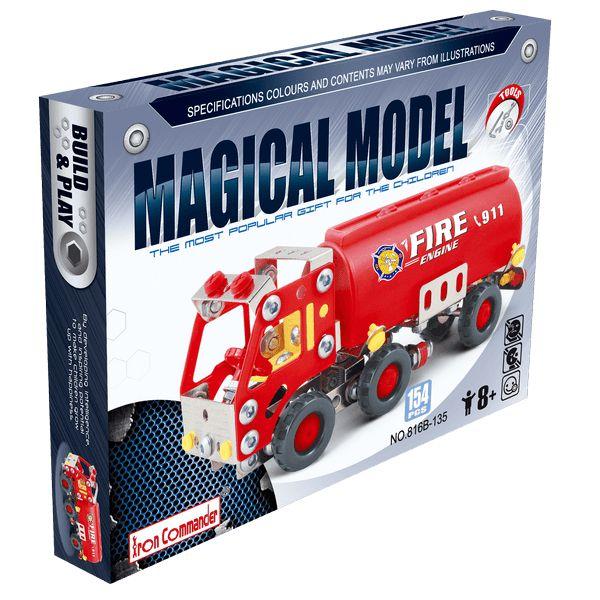 Camión de Bomberos Iron Commander 86135 Un juguete divertido y didáctico. Construcción tipo Meccano compuesta por piezas en metal y plástico de alta calidad