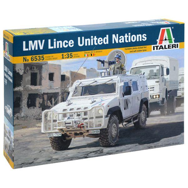 italeri 6535 LMV Lince UNITED NATIONS Kit en plástico para montar y pintar.