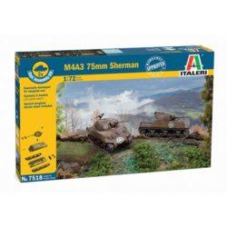 italeri 7518 Sherman M4A3 75mm 2 Fast Assembly Models