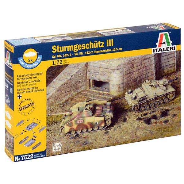 italeri 7522 Sturmgeschutz III Fast Assembly