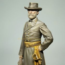 alpine miniatures 16035 General Robert E. Lee Kit en resina para montar y pintar. El kit incluye 1 figuras y 2 cabezas para la figura del General Robert E. Lee en la Guerra Civil Americana.