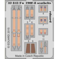 eduard 32843 Seatbelts Focke-Wulf Fw 190F-8 1/32 Cinturones de seguridad en fotograbado coloreado para el Focke-Wulf Fw 190F-8