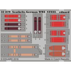 eduard 32879 Seatbelts STEEL German WWI 1/32 Cinturones de seguridad en fotograbado coloreado para los aviones alemanes durante la Primera Guerra Mundial.