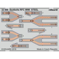 eduard 32888 Seatbelts STEEL RFC WWI 1/32 Cinturones de seguridad en fotograbado coloreado para los aviones ingleses de Royal Flying Corps durante la Primera Guerra Mundial.