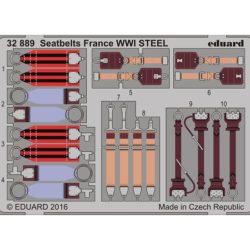 eduard 32889 Seatbelts STEEL France WWI1/32 Cinturones de seguridad en fotograbado coloreado para los aviones franceses durante la Primera Guerra Mundial.