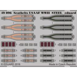eduard 49096 Seatbelts STEEL USAAF WWII 1/48 Cinturones de seguridad en fotograbado coloreado para los aviones de la Fuerza Aérea Americana durante Segunda Guerra Mundial.