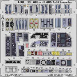 eduard 49689 A-6E Interior (Hobby Boss) 1/48 Piezas en fotograbado a color para superdetallar la maqueta indicada. Escala 1/48