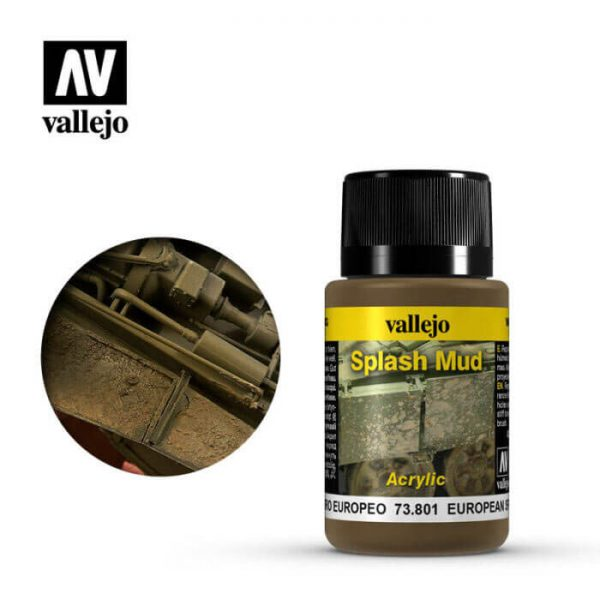 acrylicos vallejo 73801 Salpicaduras Barro Europeo 40ml