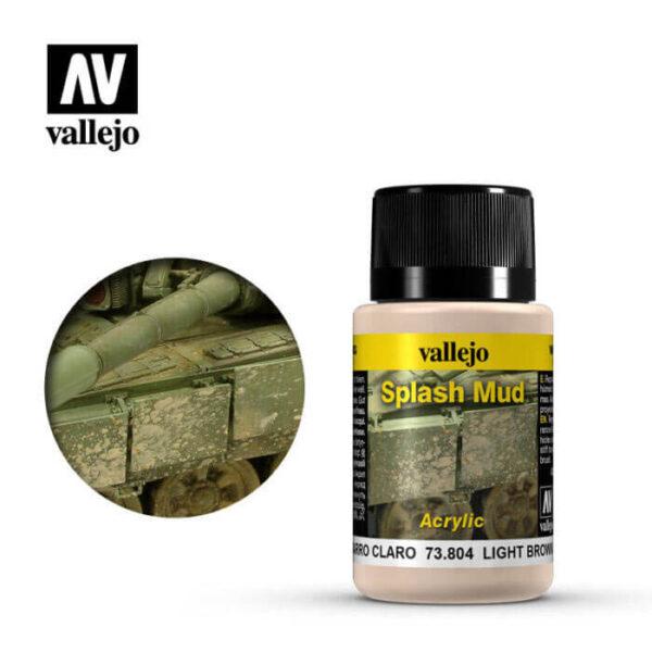 acrylicos vallejo 73804 Salpicaduras Barro Marrón Claro 40ml