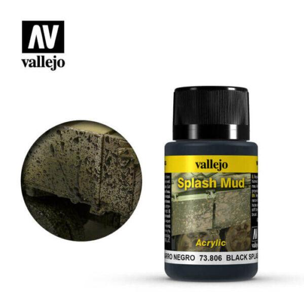 acrylicos vallejo 73806 Salpicadiras Barro Negro 40ml