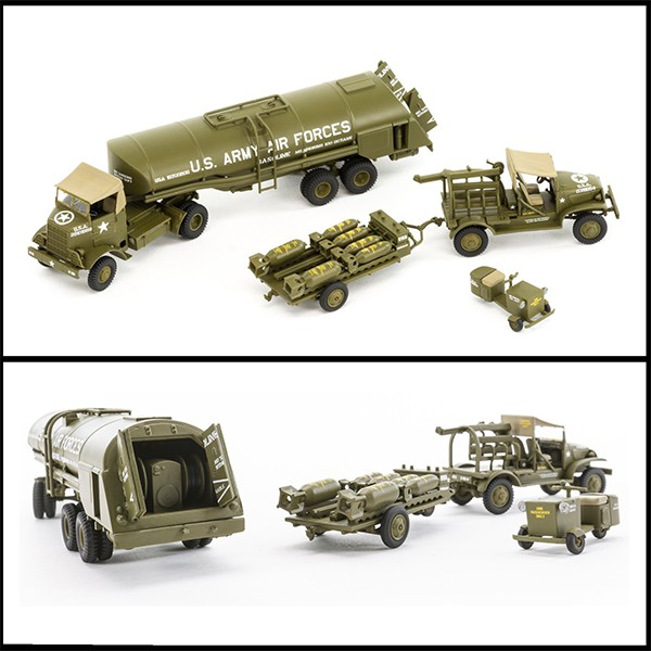airfix a06304 WWII USAAF 8th Air Force Bomber Resupply Set 1/72 Kit en plástico para montar y pintar. Vehículos incluidos en el set: Cushman Model 39 Package Car. Chevrolet M6 Bomb Service Truck. M5 Bomb Trailer. Autocar U-7144-T 4x4 Tractor Unit. F-1 Fuel Trailer.airfix a06304 WWII USAAF 8th Air Force Bomber Resupply Set 1/72 Kit en plástico para montar y pintar. Vehículos incluidos en el set: Cushman Model 39 Package Car. Chevrolet M6 Bomb Service Truck. M5 Bomb Trailer. Autocar U-7144-T 4x4 Tractor Unit. F-1 Fuel Trailer.