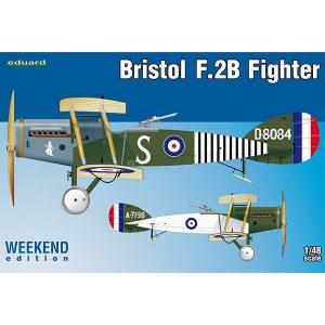 eduard 8489 Bristol F.2B Fighter Weekend Edition Kit en plástico para montar y pintar de la serie Weekend Edition de Eduard. Hoja de calcas con 2 decoraciones.