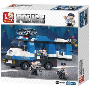 Sluban B0187 Mobile Police Station Juego de construcción por bloques de plástico compatibles con Lego y otras marcas. Una forma fácil y divertida de construir tus primeros modelos y favorecer el desarrollo e imaginación