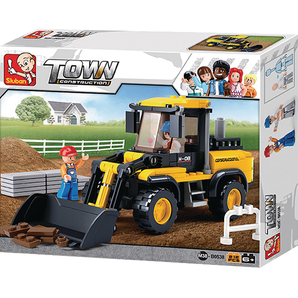Sluban B0538 Wheel Loader Juego de construcción por bloques de plástico compatibles con Lego y otras marcas. Una forma fácil y divertida de construir tus primeros modelos y favorecer el desarrollo e imaginación de niño.