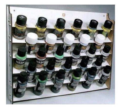 acrylicos vallejo 26009 AV Expositor de pared para frascos de 35/60 ml. La solución perfecta para organizar los colores de Vallejo.