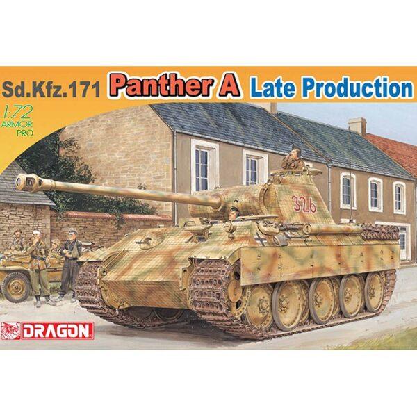 dragon 7505 Sd.Kfz.171 Panther A Late Production Kit en plástico para montar y pintar. Dos opciones de decoración