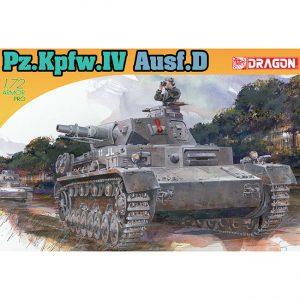 dragon 7530 Pz.Kpfw.IV Ausf.D Kit en plástico para montar y pintar. Dos opciones de decoración