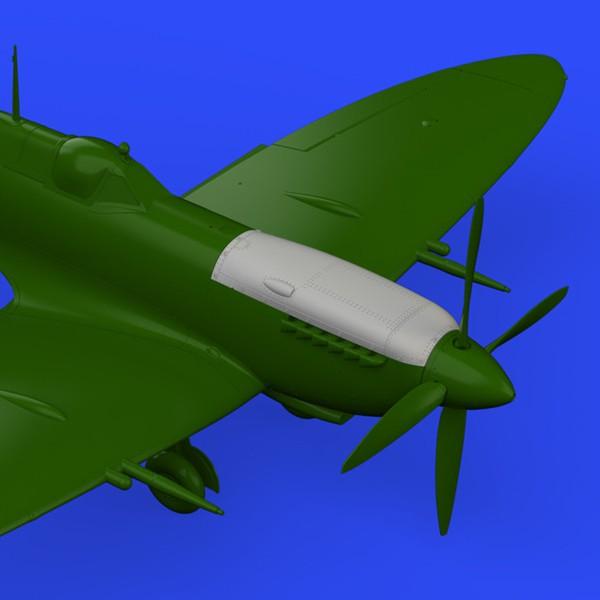 eduard brassin 648306 Spitfire Mk. IX top cowl late 1/48 Cubierta superior del motor en una sola pieza para la versión final del Spitfire Mk.IK de Eduard