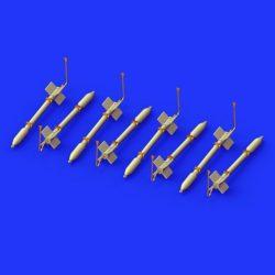 eduard brassin 672145 FFAR Rockets 1/72 Brassin set de 8 cohetes FFAR en resina y fotograbado.