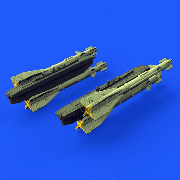 eduard brassin 672149 R-60 / AA-8 Aphid rockets 1/72 Kit en resina y fotograbado para montar 4 cohetes R-60 / AA-8 Aphid
