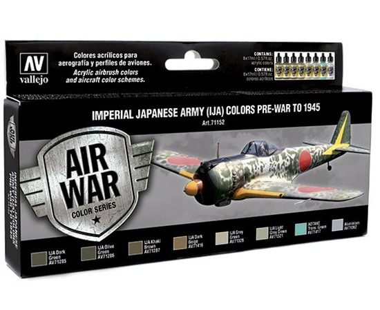 av71152 Imperial Japanese Army (IJA) Colors Set de 8 colores Model Air de 17 ml para aerografía.
