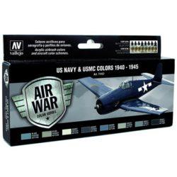 av71157 US NAVY & USMC Colors WWII 1940-1945 Set de 8 colores Model Air de 17 ml para aerografía.
