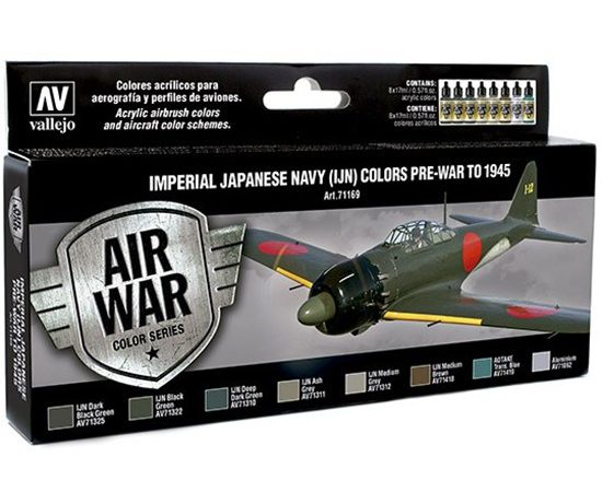 av71169 Imperial Japanese Navy IJN Colors pre-war to 1945 Set de 8 colores Model Air de 17 ml para aerografía.