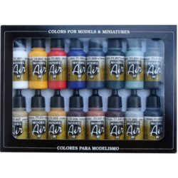 acrylicos vallejo 71178 AV71178 Set de Colores Básicos Set de 16 colores básicos Model Air para pintar maquetas y miniaturas.