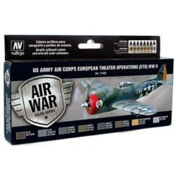av71182 US Army Air Corps Colors ETO WWII Set de 8 colores Model Air de 17 ml para aerografía.