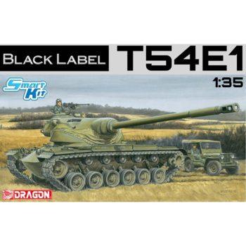 dragon 3560 T54E1 Black Label Series Kit en plástico para montar y pintar.