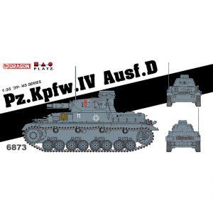 dragon 6873 Pz.Kpfw.IV Ausf.D Kit en plástico para montar y pintar. Dos opciones de decoración. Piezas 175+