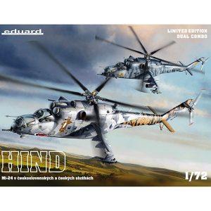 eduard 2116 Mi-24 in Czech and Czechoslovak service DUAL COMBO Kit en edición limitada, dos maquetas completas. Incluyen piezas en fotograbado, resina y mascarillas.