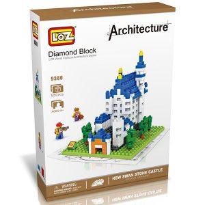 LOZ 9380 New Swan Stone Castle Disfruta construyendo el famoso castillo New Swan Stone con los bloques más pequeños del mercado