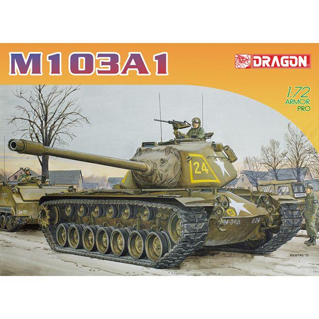 dragon 7519 M103A1 Heavy Tank Kit en plástico para montar y pintar. Piezas 40+ Hoja de calcas con 3 decoraciones.