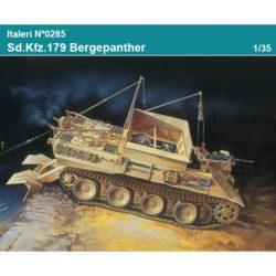 italeri 0285 Sd. Kfz. 179 Bergepanther Kit en plástico para montar y pintar. Dos opciones de decoración. Longitud 240mm