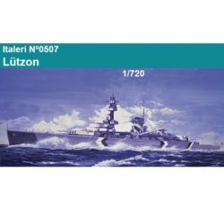italer -0507 German Pocket Battle Ship Lützow 1/720 Kit en plástico para montar y pintar. Una opción de decoración. Longitud 260mm