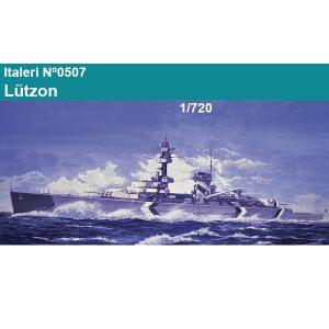 italer -0507 German Pocket Battle Ship Lützow 1/720 Kit en plástico para montar y pintar. Una opción de decoración. Longitud 260mm