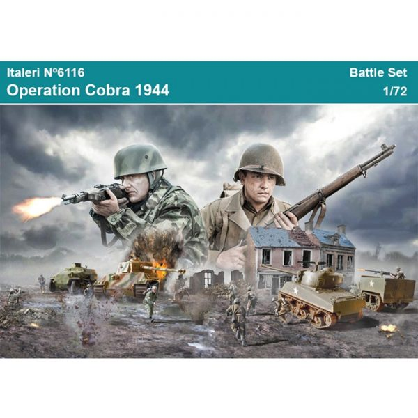 italeri6116 OPERATION COBRA 1944 BATTLE SET 1/72 Kit en plástico para montar y pintar.