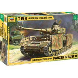zvezda 3620 German Medium Tank PzKpfw IV Ausf H Kit en plastico para montar y pintar. Incluye orugar por tramo y eslabón. Piezas 545 Longitud 200mm