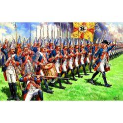 zvezda 8071 Prussian Grenadiers of Frederick II The Great XIII a.d. Kit en plástico para montar y pintar. Incluye 41 figuras a pie en 12 posturas diferentes.