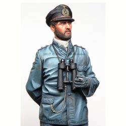 alpine miniatures 16036 German U-Boat Watch Officer WWII Kit en resina para montar y pintar. El kit incluye 1 figuras y 2 cabezas