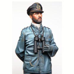 alpine miniatures 16036 German U-Boat Watch Officer WWII Kit en resina para montar y pintar. El kit incluye 1 figuras y 2 cabezas