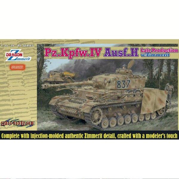 dragon 6560 Pz.Kpfw.IV Ausf.H Late Production w/Zimmerit