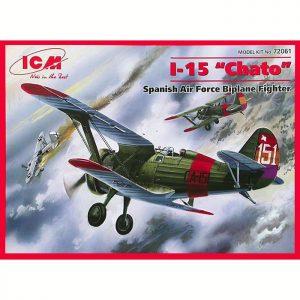 icm 72061 I-15 Chato Spanish Air Force Fighter-Biplane Kit en plástico para montar y pintar.