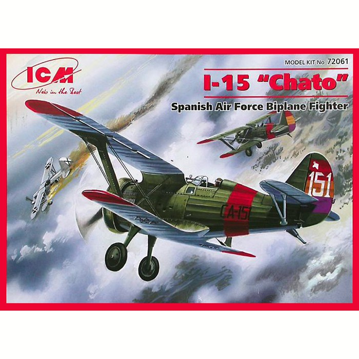 icm 72061 I-15 Chato Spanish Air Force Fighter-Biplane Kit en plástico para montar y pintar.