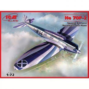 icm 72231 Heinkel He 70F-2 Spanish Air Force Kit en plástico para montar y pintar.