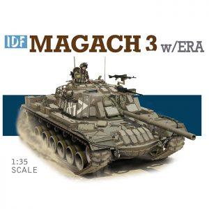dragon 3578 IDF Magach 3 w/ERA Kit en plástico para montar y pintar. Incluye piezas en fotograbado.