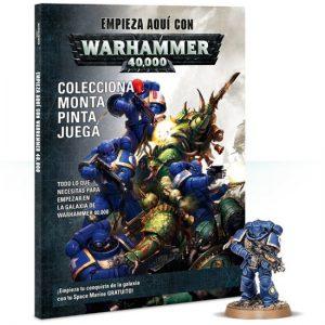 games workshop Empieza aquí con Warhammer 40,000 Con esta revista aprenderás de forma sencilla como empezar a jugar e incluye una mini del Primaris Space Marine Intercessor. 104 páginas, fotos a color y texto en castellano.