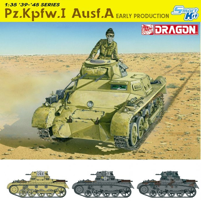 dragon 6289 Pz.Kpfw.I Ausf.A Early Production Kit en plástico para montar y pintar. Incluye piezas en fotograbado y cadenas por eslabones individuales.